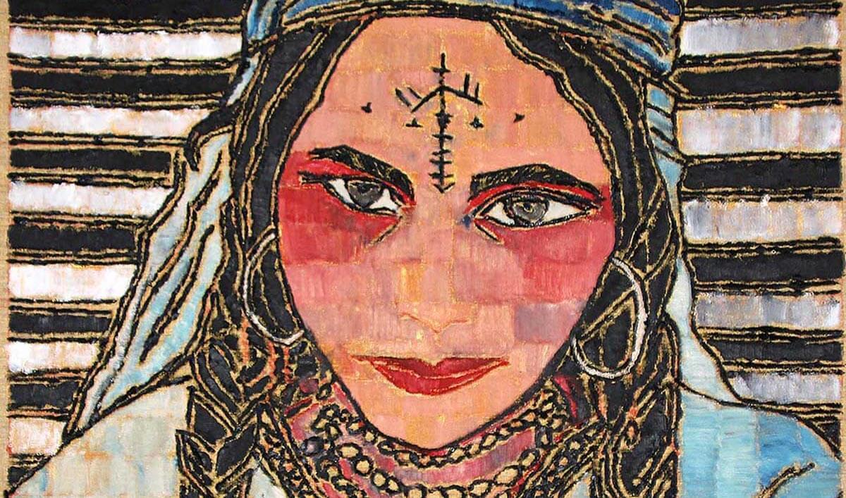 Berber woman by Moroccan artist Ghizlan El Glaoui