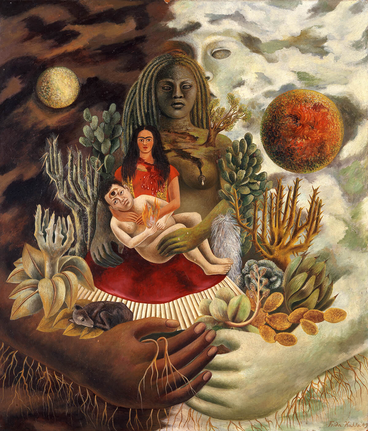 Iconic Love Embrace Painting by Frida Kahlo