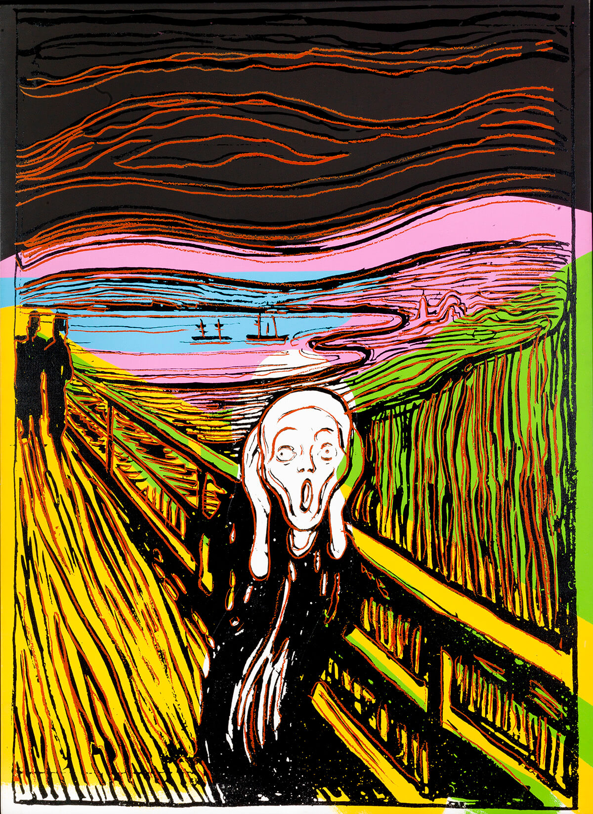 Andy Warhol's colourful print interpretation of the iconic painting by Edward Munch, The Scream