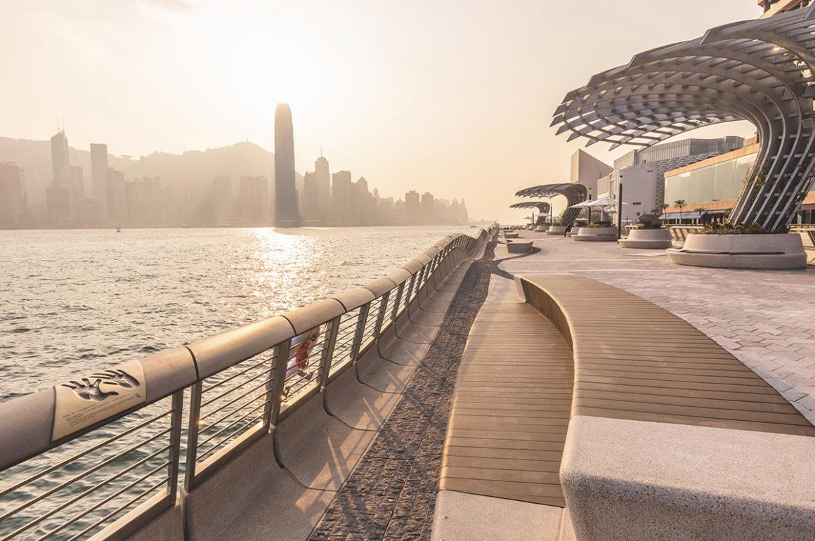 Render of Avenue of the Stars ocean walk in Hong Kong