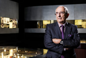 Portrait of watchmaker Jack Heuer of Swiss brand TAG Heuer