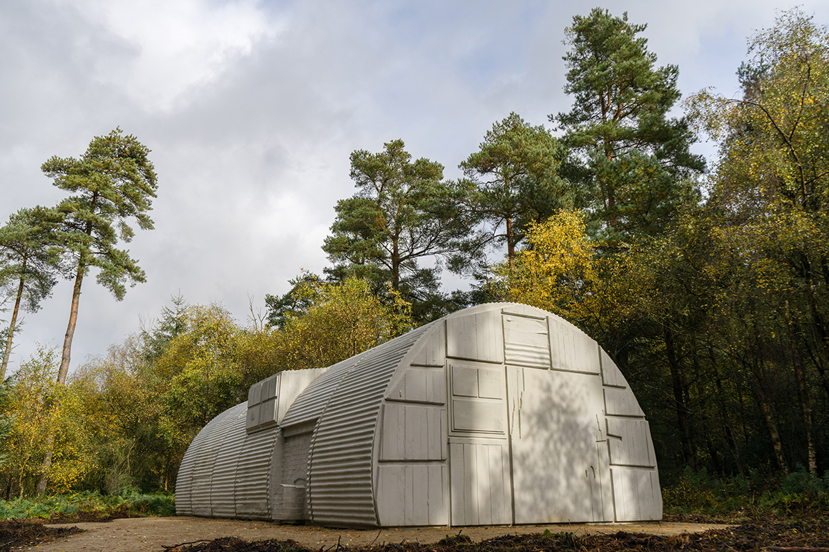 Rachel Whiteread's Nissen Hut sculpture