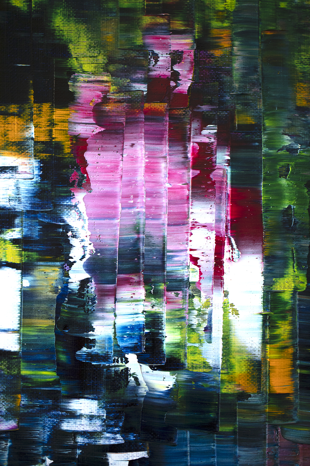 colourful layered abstract painting