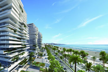Render of luxury apartments on the beach