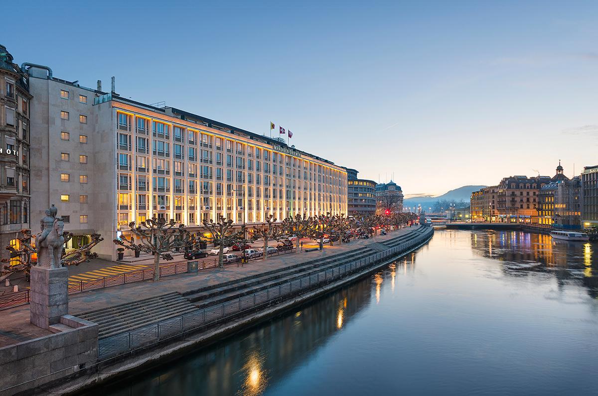 Luxury city hotel on the riverside