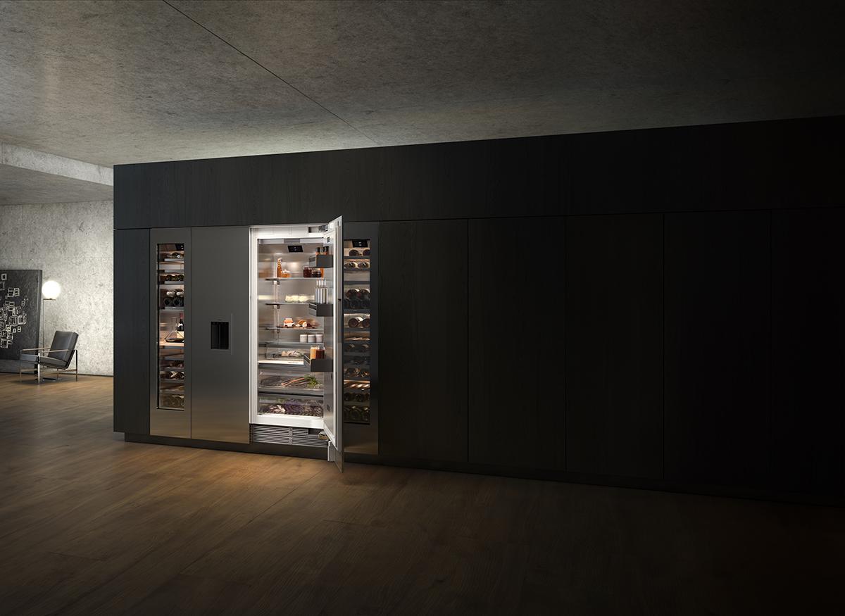 Contempoary style refrigerator