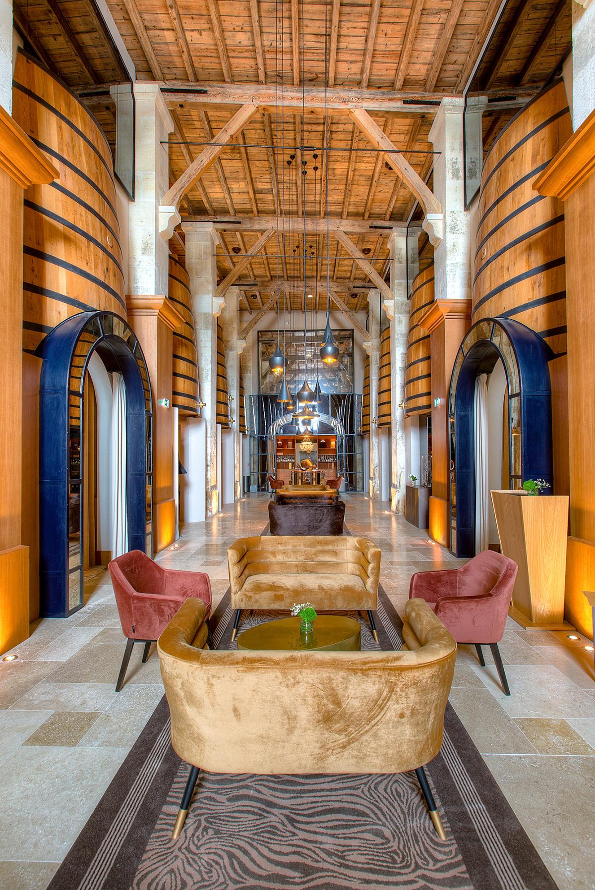 Luxurious restaurant interiors