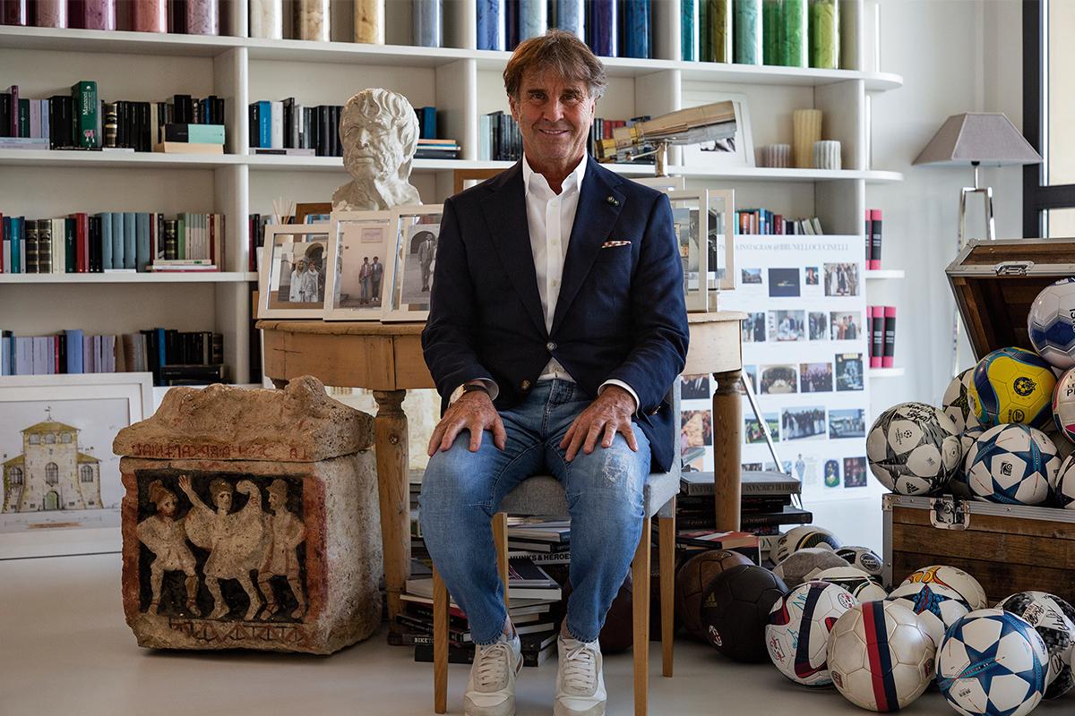 designer in his studio
